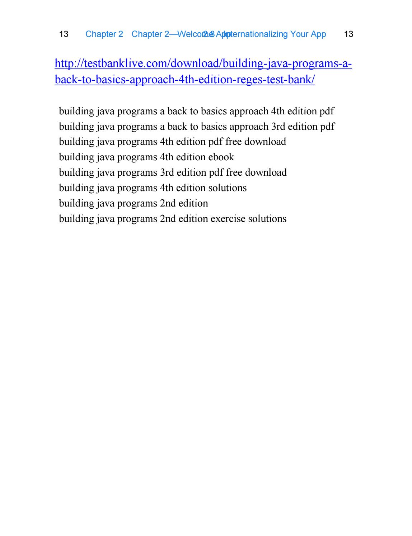 Building Java Programs 4th Edition Pdf Free Download