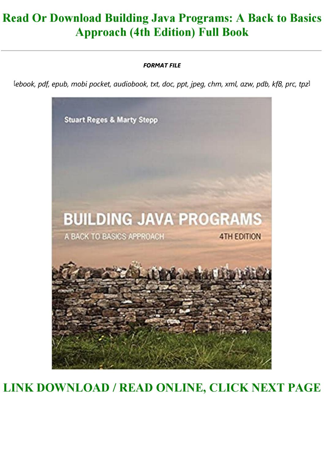 Building Java Programs 4th Edition Pdf