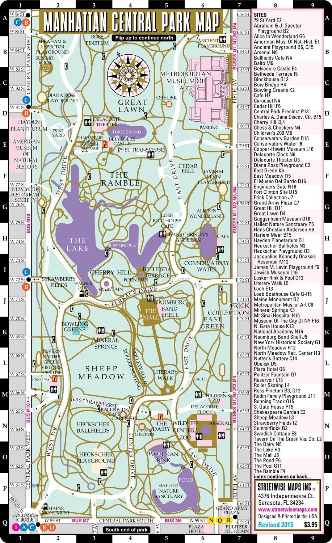 Central Park Map Pdf