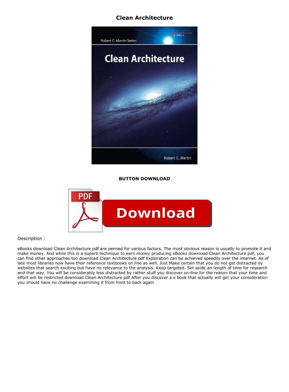 Clean Architecture Pdf Download