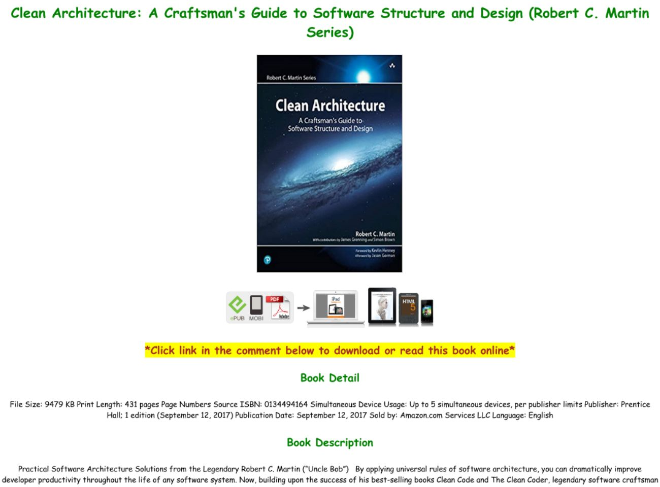 Clean Architecture Pdf Online