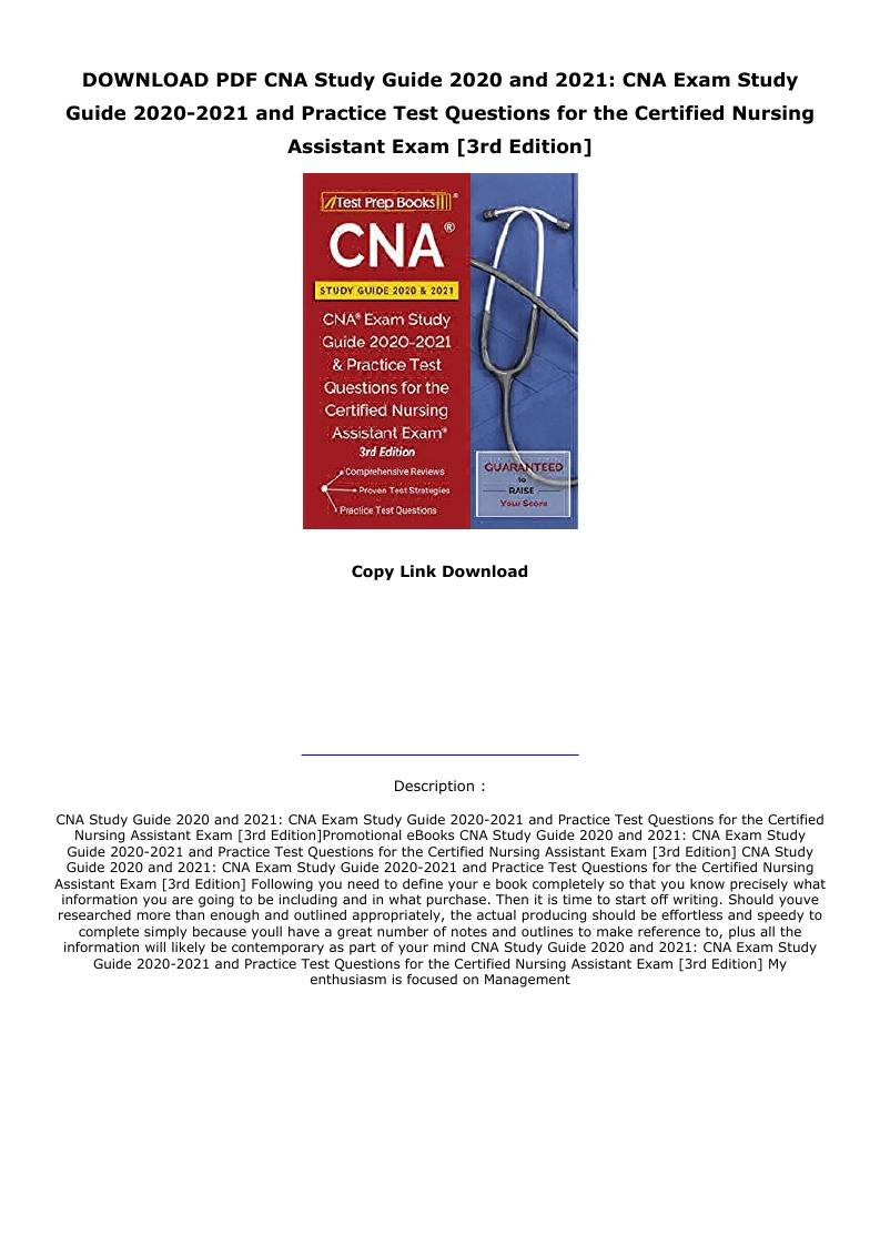 Cna Study Guide Pdf 2020