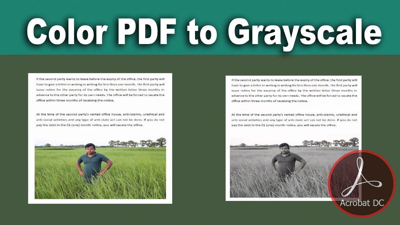 Convert Pdf To Grayscale Acrobat Dc