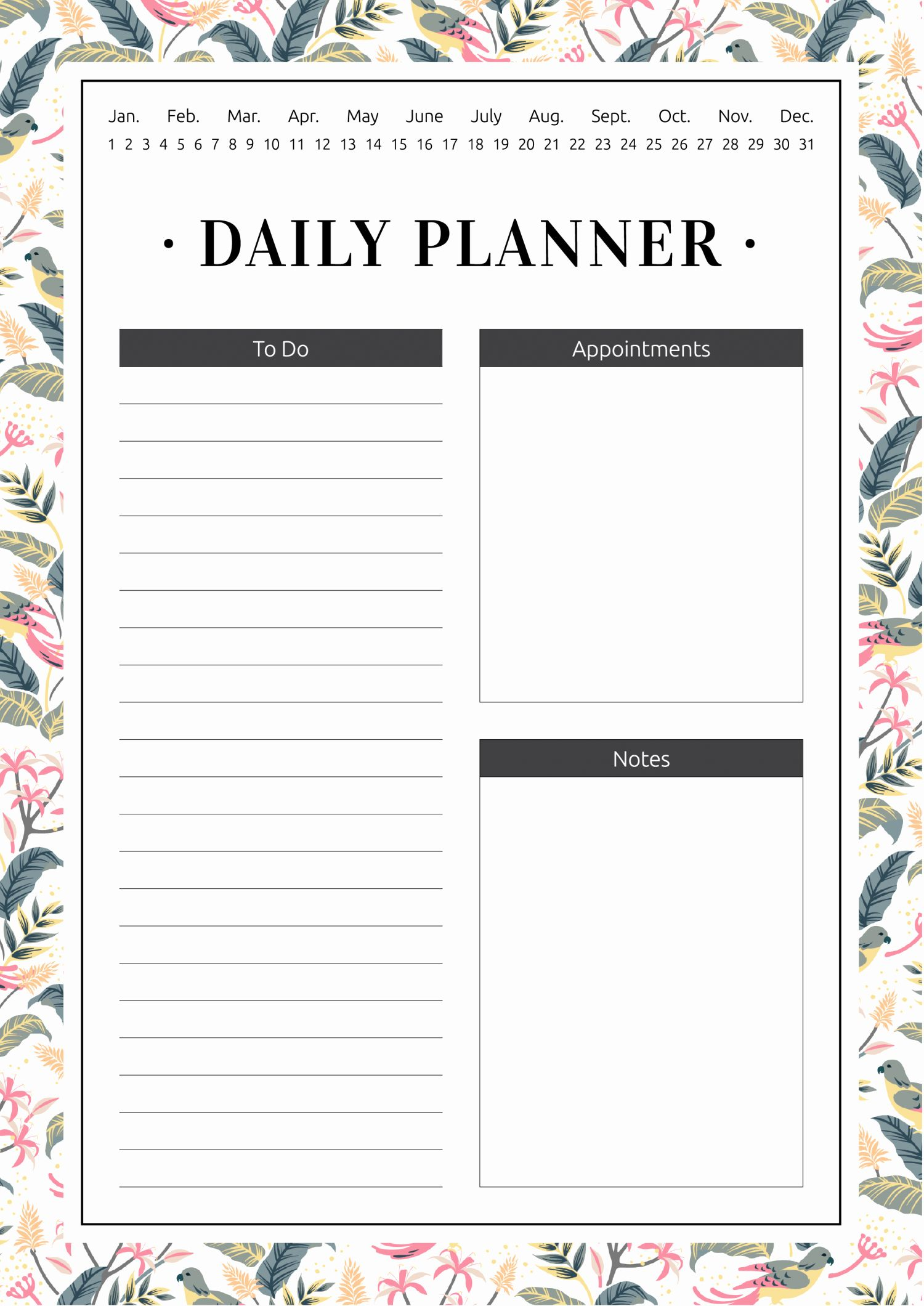 Daily Planner Pdf Free Download