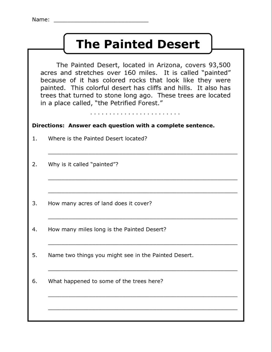 Daily Reading Comprehension Grade 4 Pdf Free