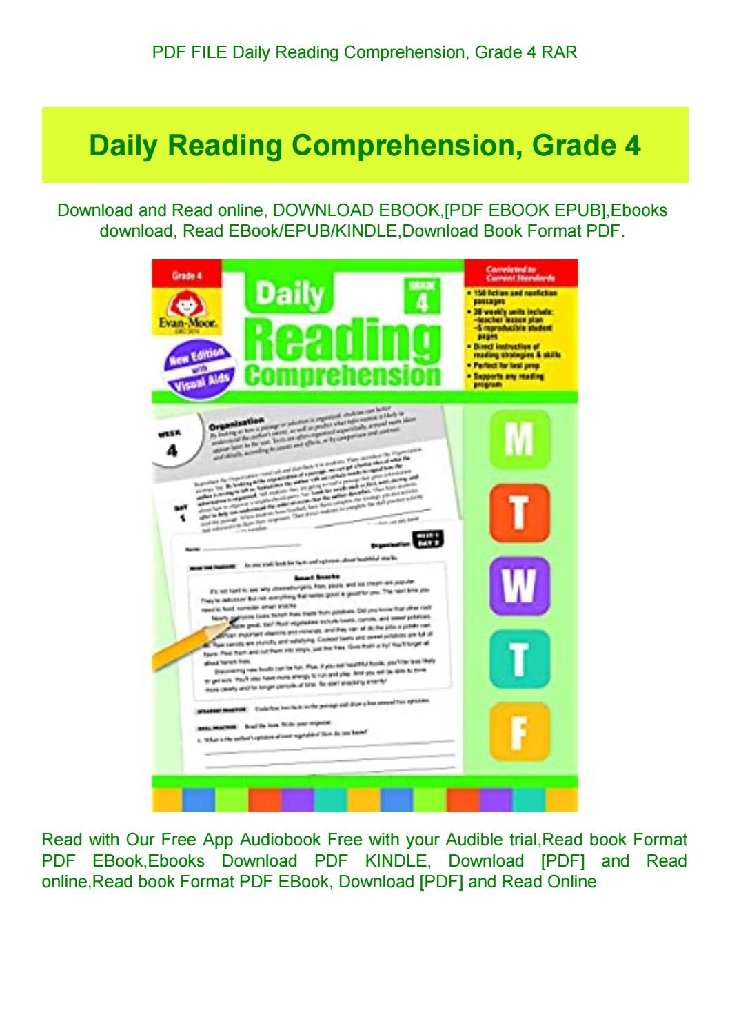 Daily Reading Comprehension Grade 4 Pdf