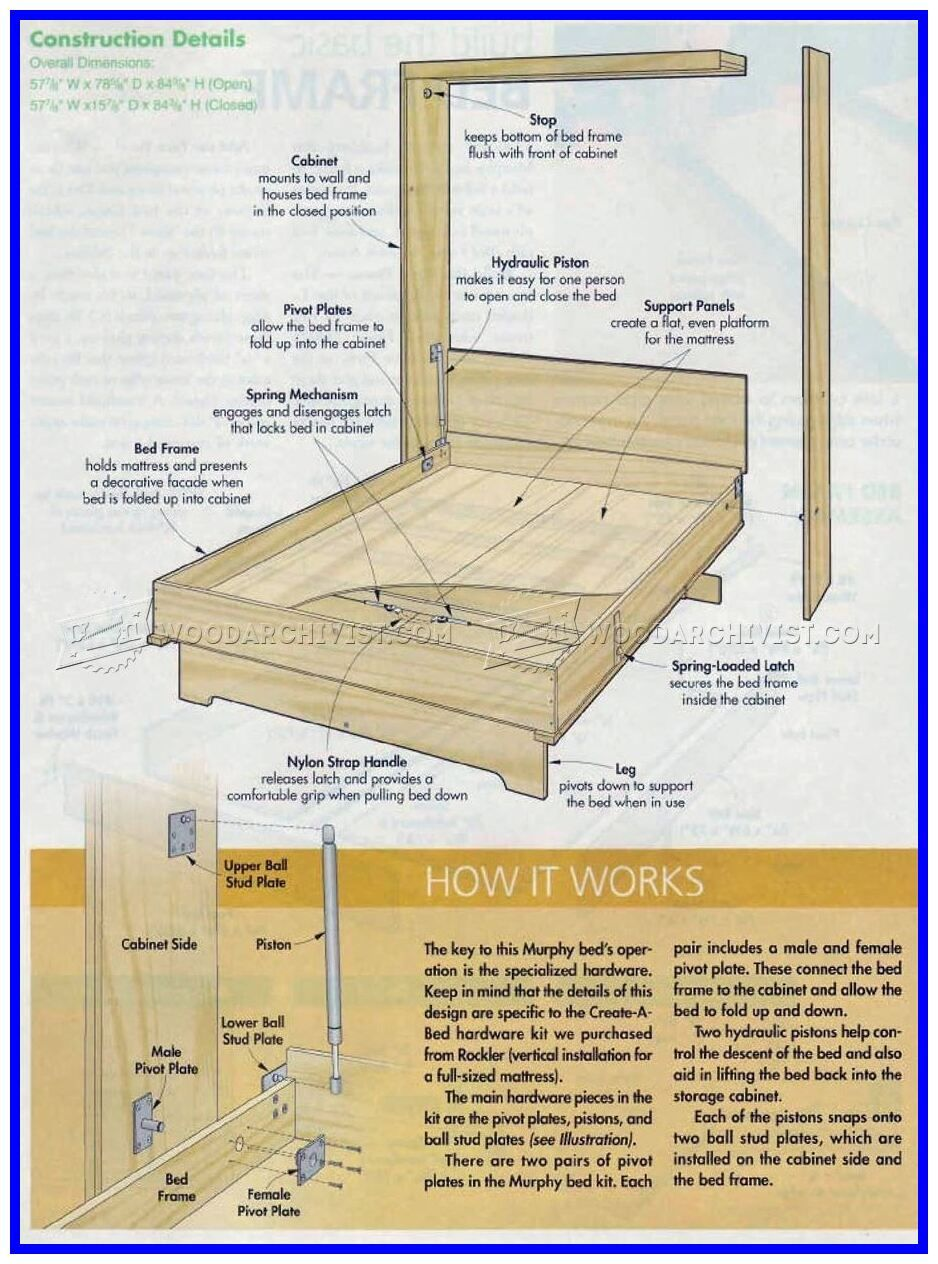 Diy Murphy Bed With Desk Plans Pdf
