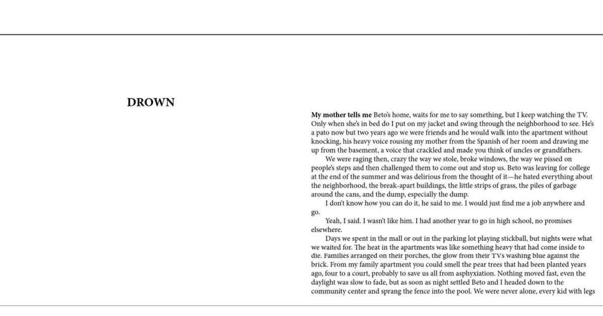 Drown Junot Diaz Pdf