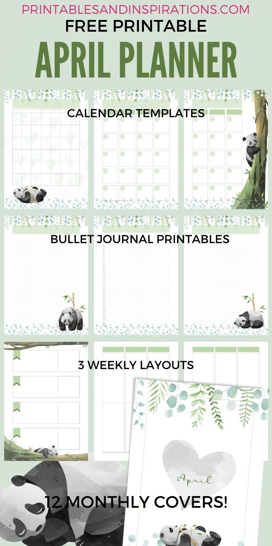 Free Printable Panda Planner Pdf