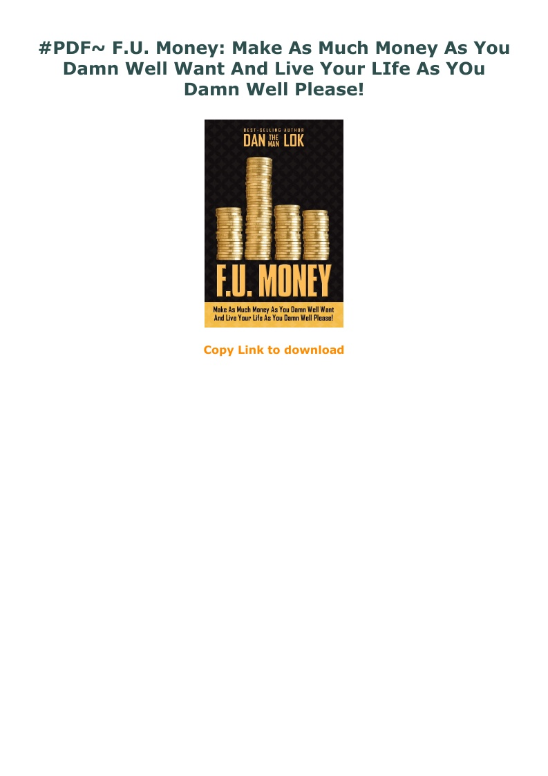 Fu Money Pdf