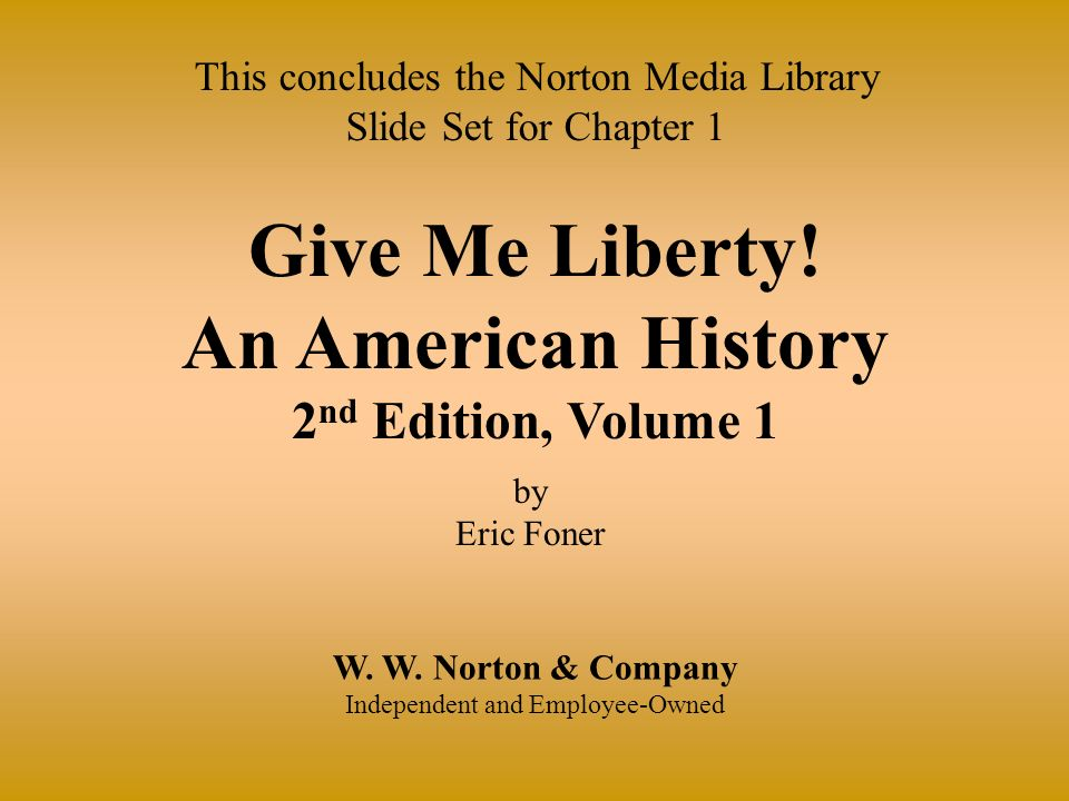 Give Me Liberty Pdf Chapter 3