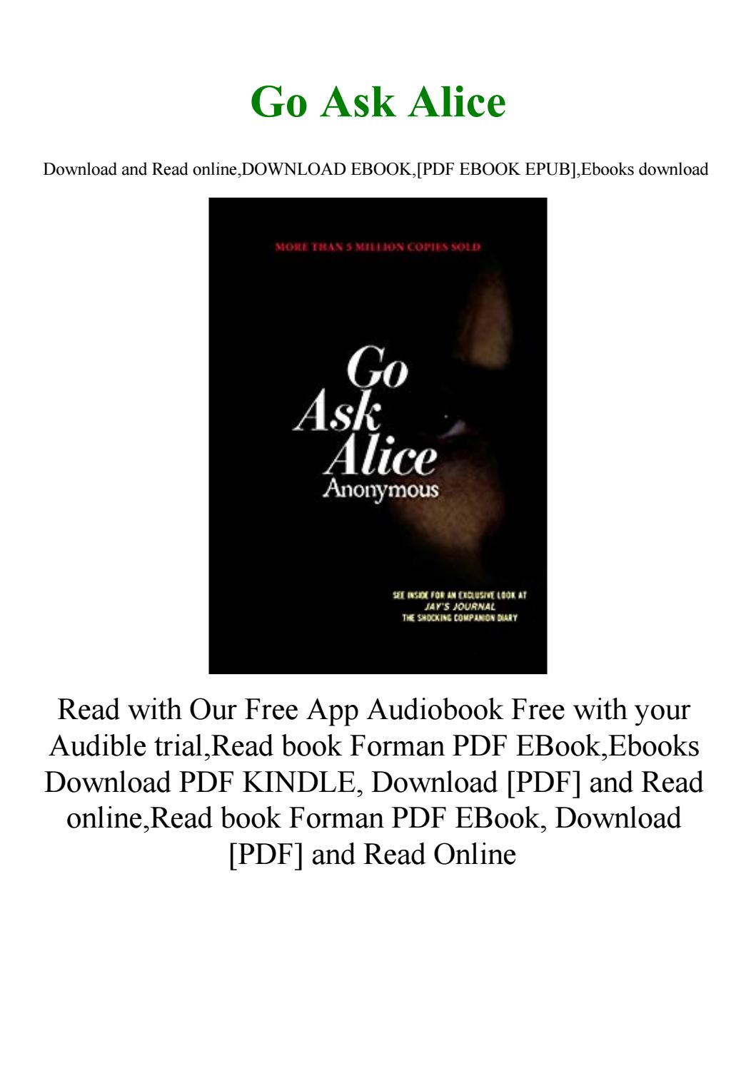 Go Ask Alice Pdf Download