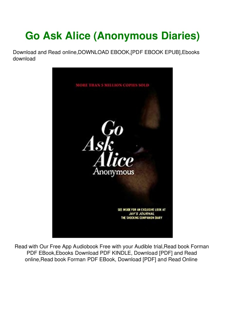 Go Ask Alice Pdf