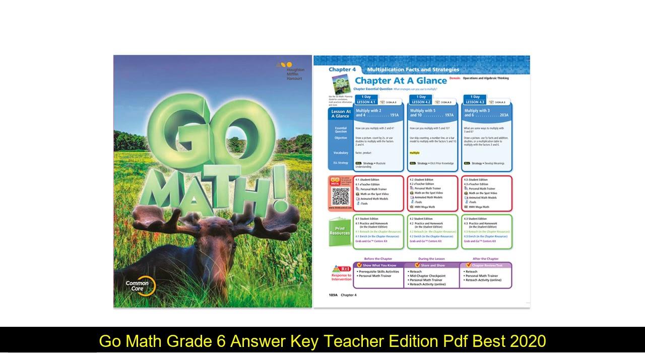 Go Math Grade 6 Teacher Edition Pdf