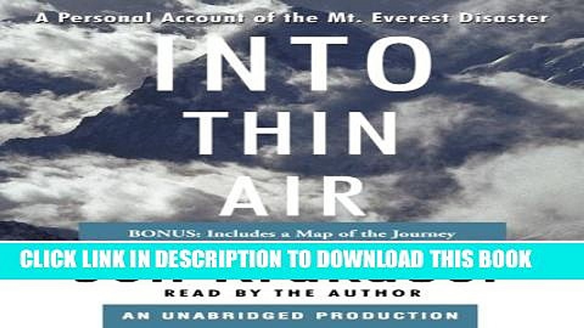 Into Thin Air Book Pdf