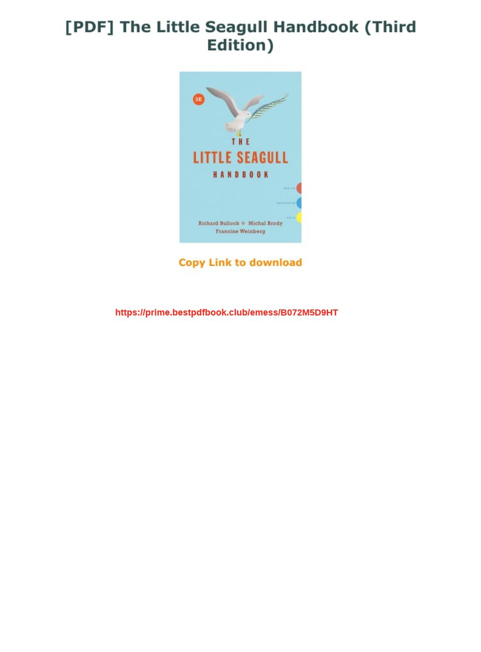 Little Seagull Handbook Pdf