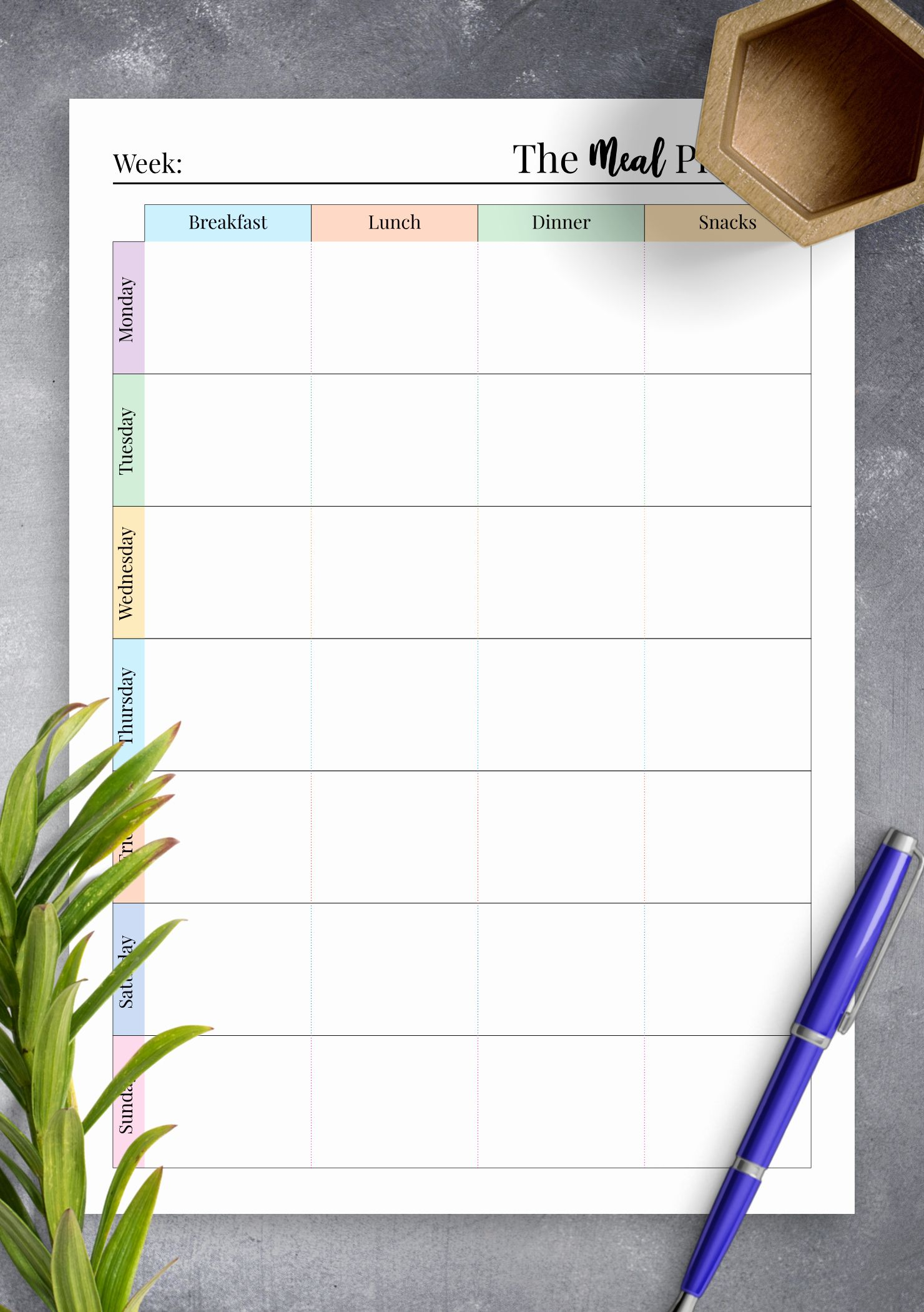 Meal Plan Template Pdf Free