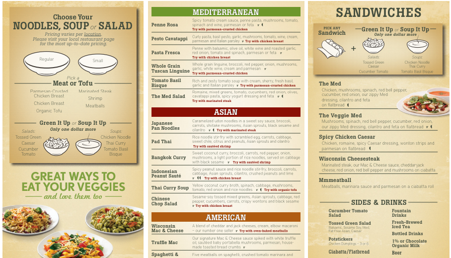 Noodles And Company Menu Pdf
