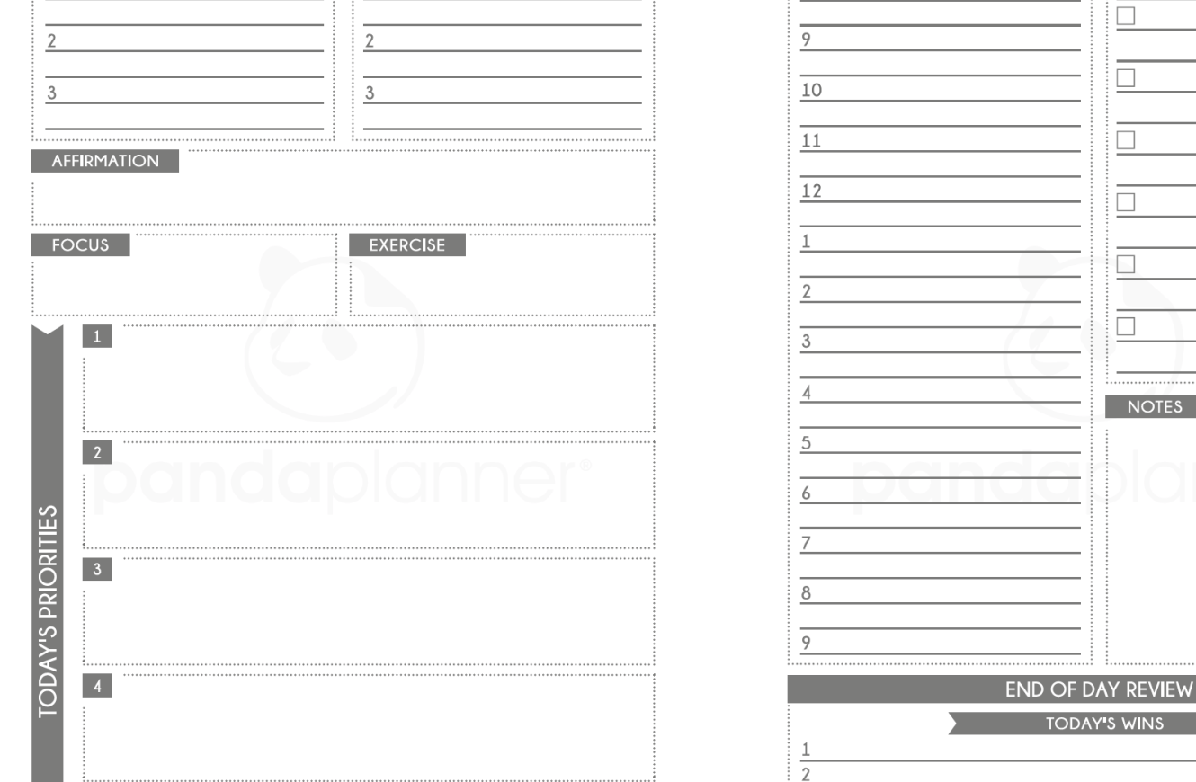Panda Planner Pages Pdf