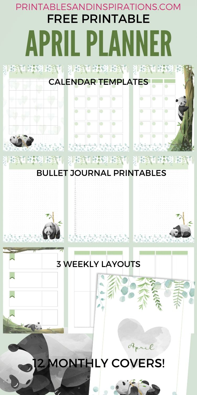 Panda Planner Printable Pdf