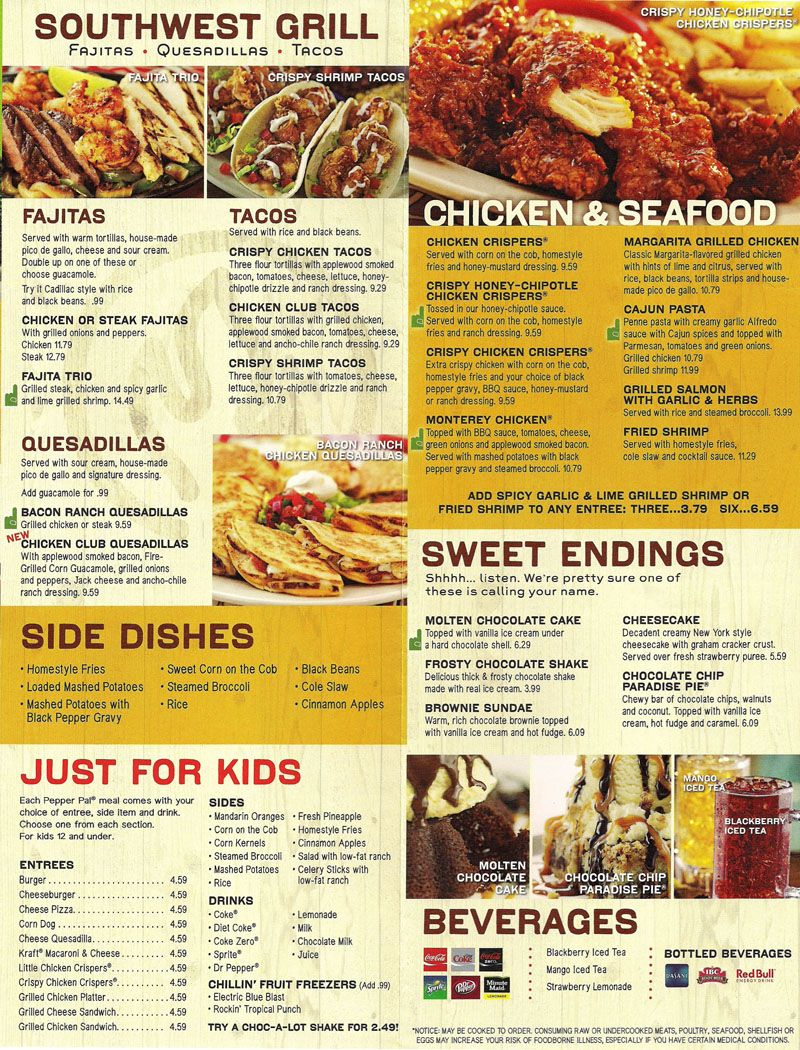 Pdf Chilis Drink Menu