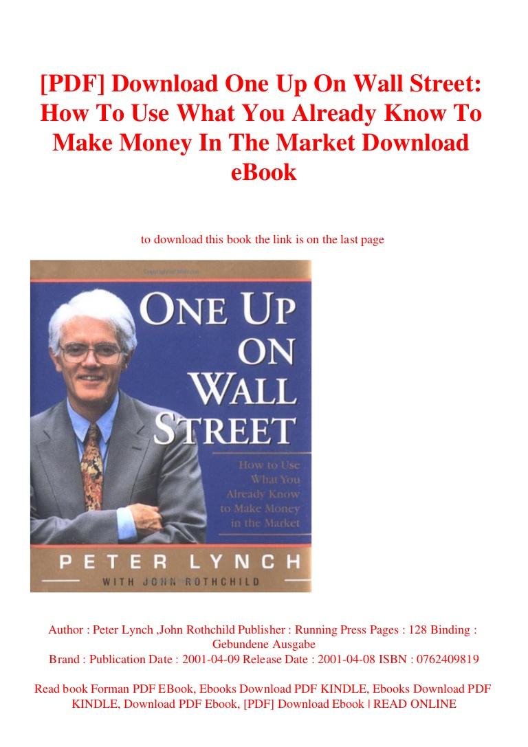 Peter Lynch One Up On Wall Street Pdf