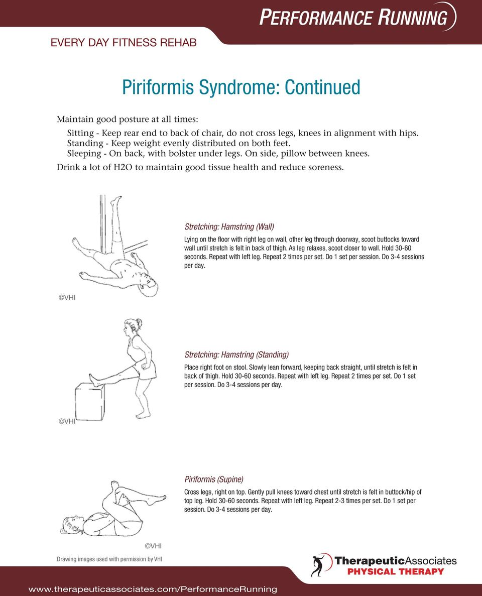 Piriformis Syndrome Exercises Pdf Nhs