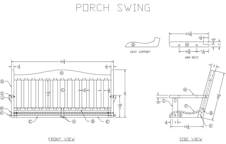 Porch Swing Plans Pdf