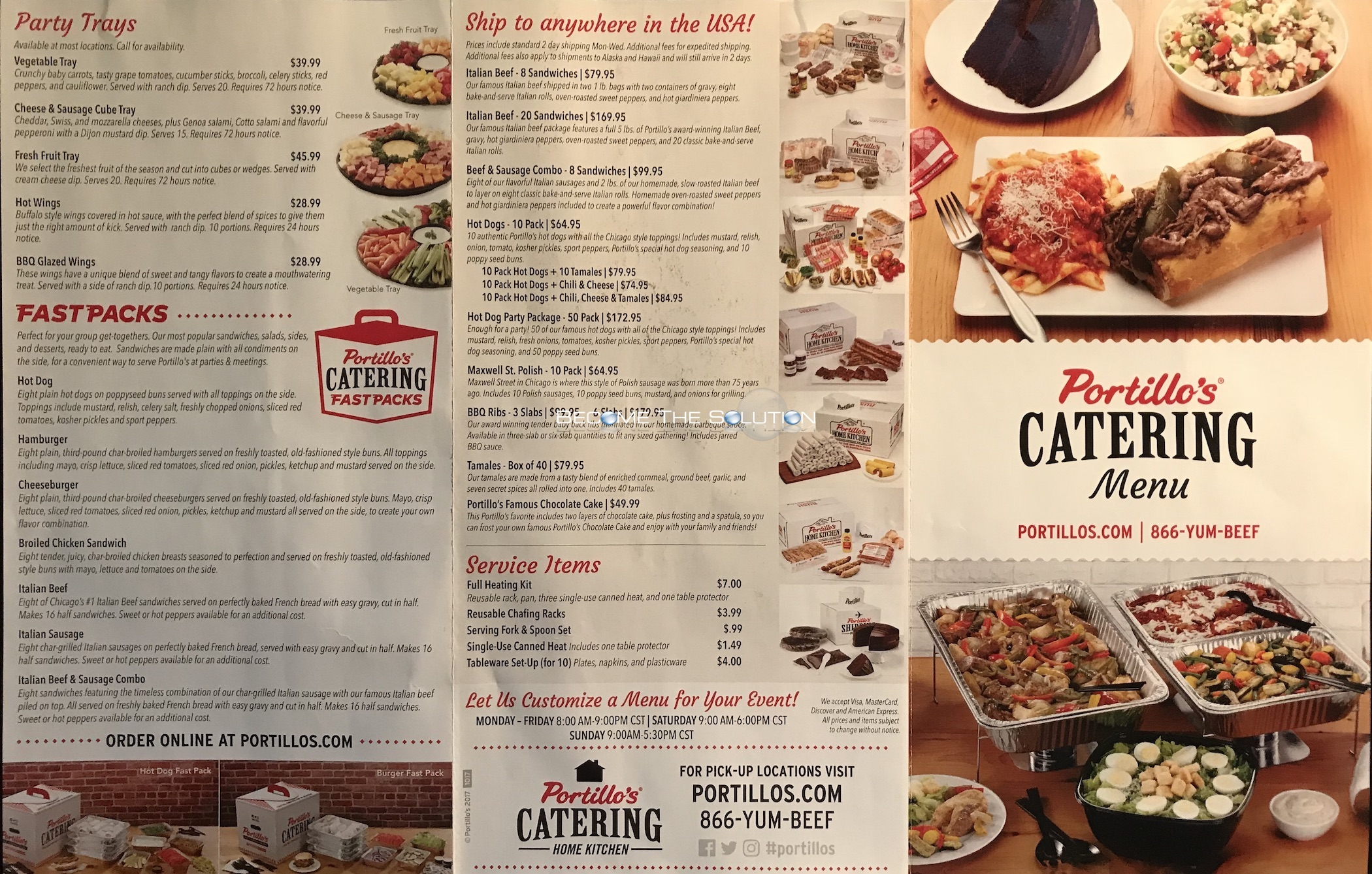 Portillos Catering Menu Pdf