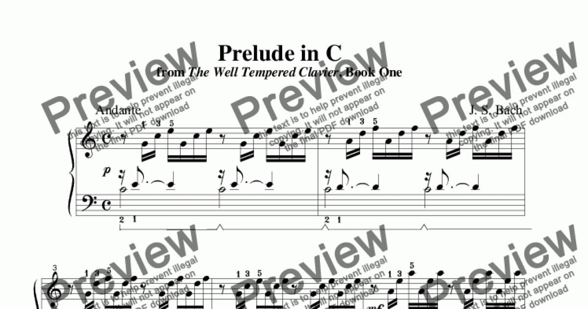 Prelude In C Major Bach Piano Pdf