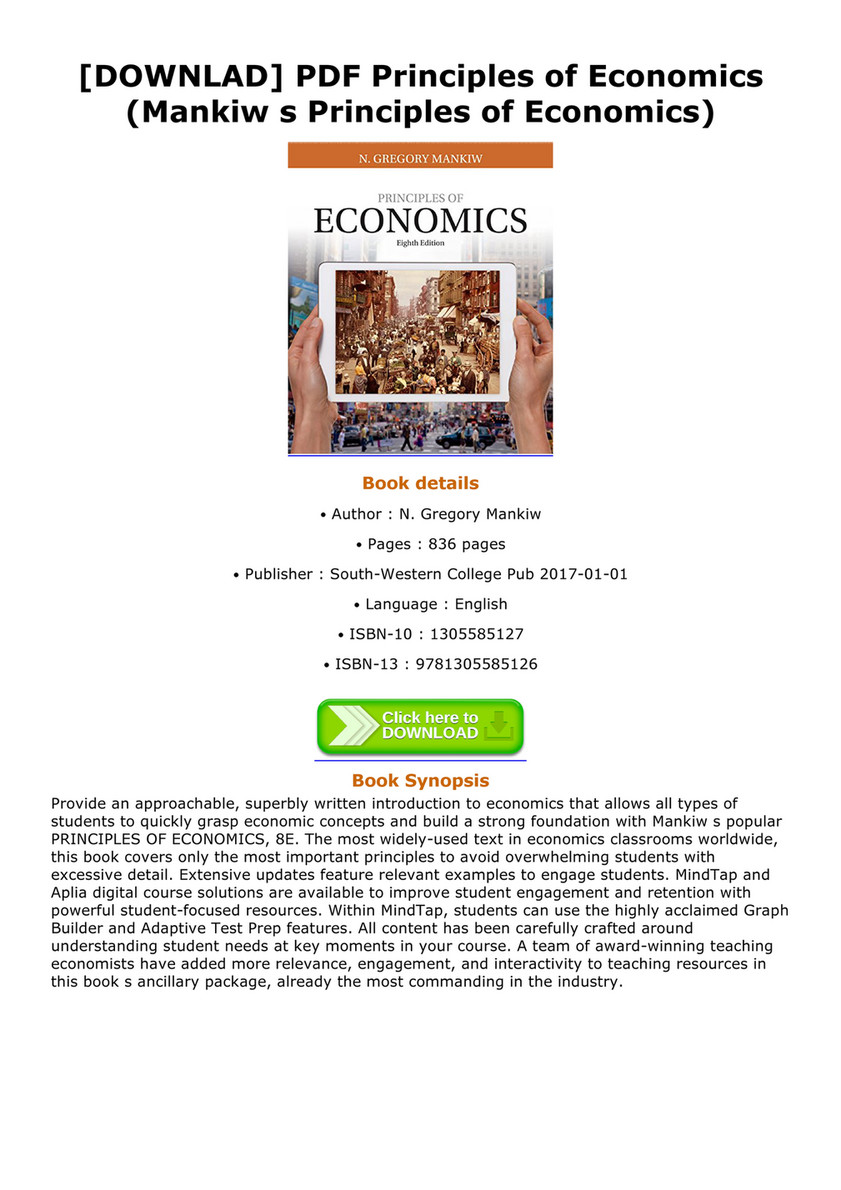 Principles Of Economics Mankiw Pdf