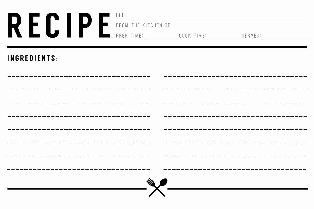Recipe Template Pdf Free