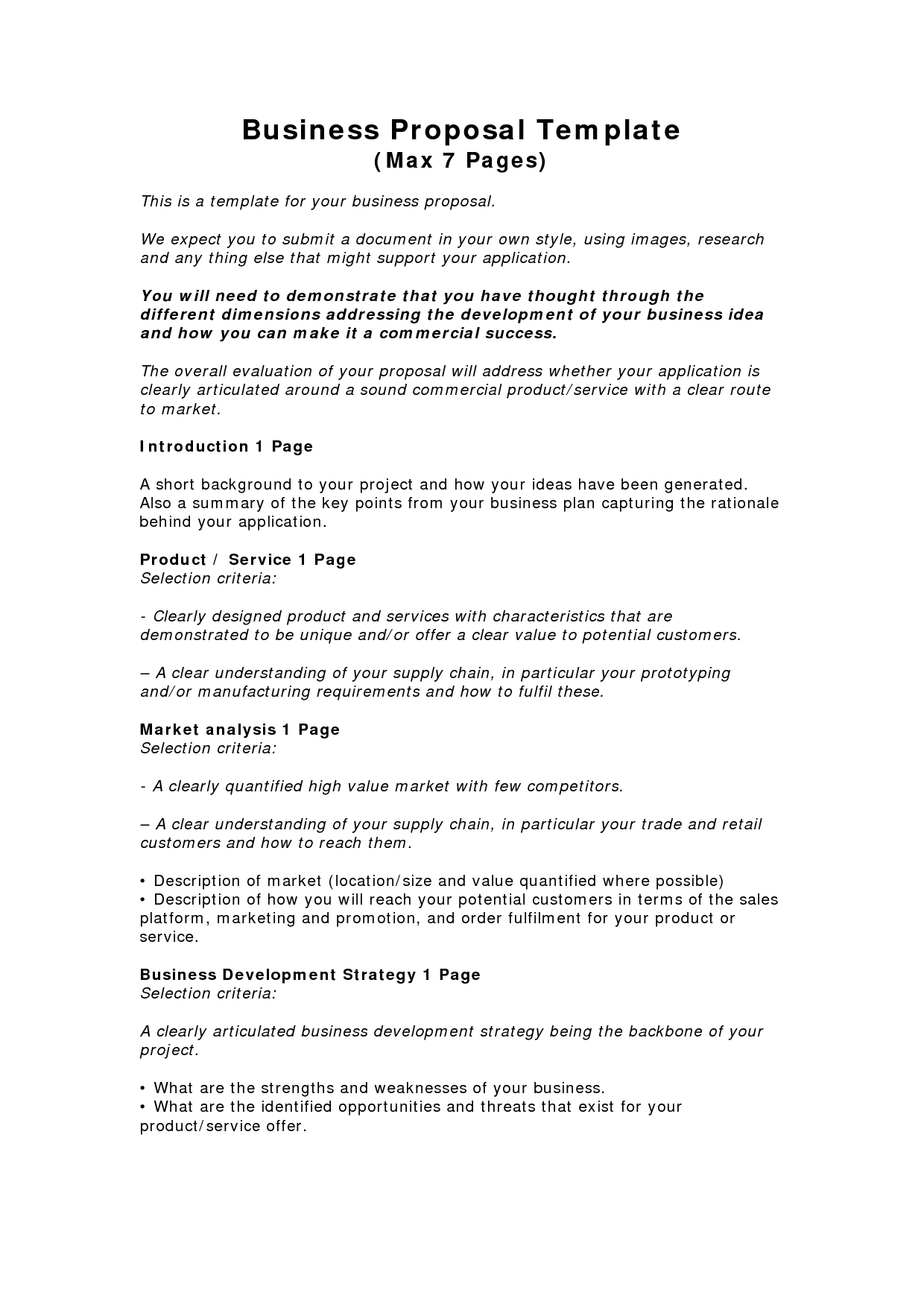 Small Business Business Proposal Sample Pdf