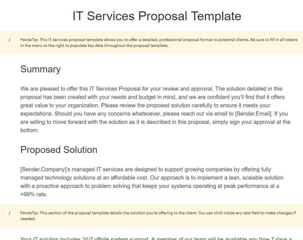 Unsolicited Business Proposal Sample Pdf