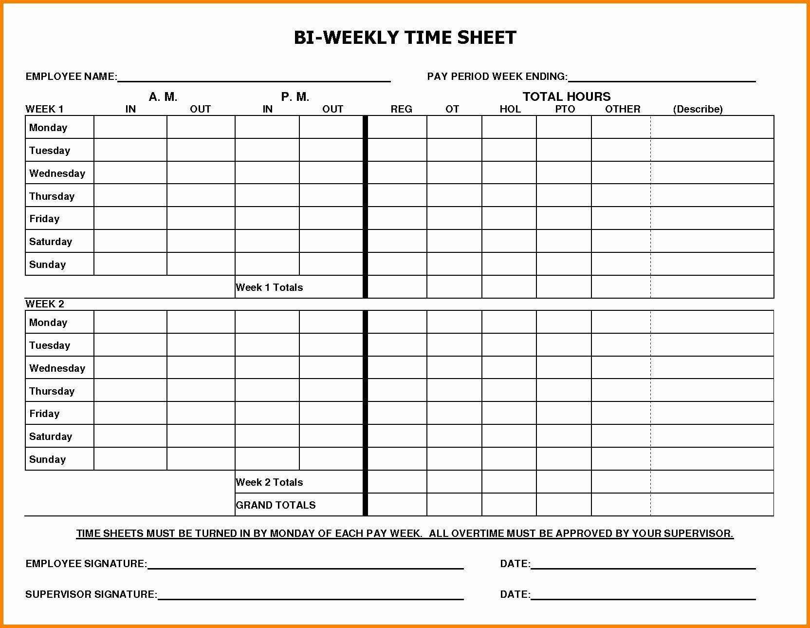Weekly Free Printable Time Sheets Pdf