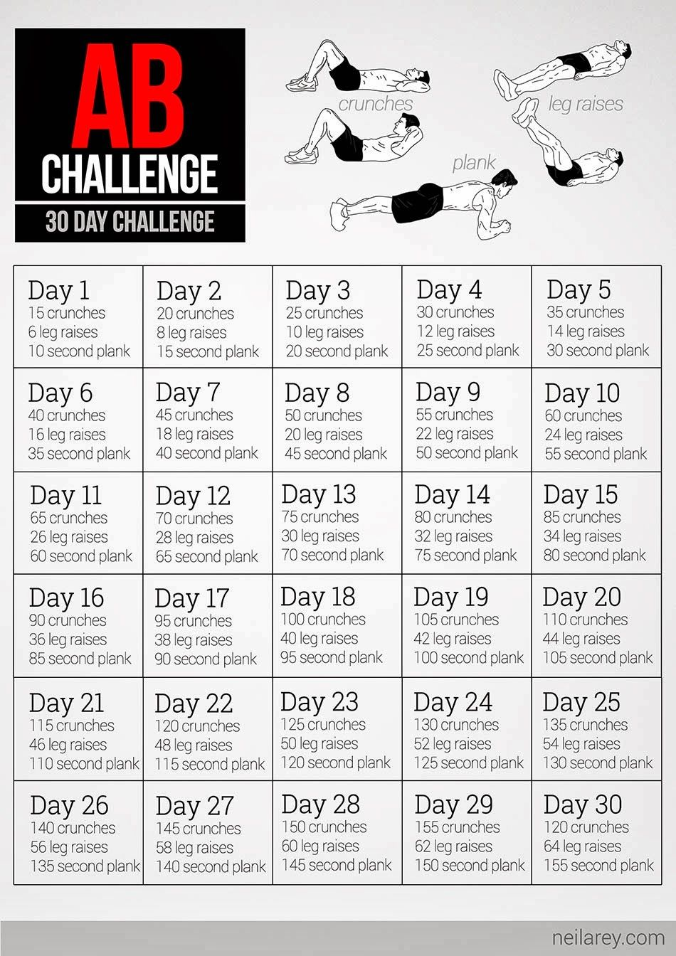 30 Day Ab Challenge Pdf Download