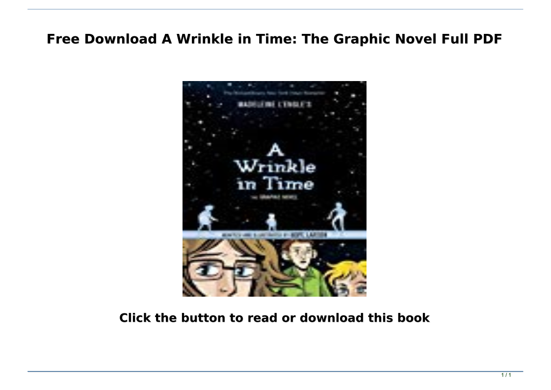 A Wrinkle In Time Book Pdf Free Download