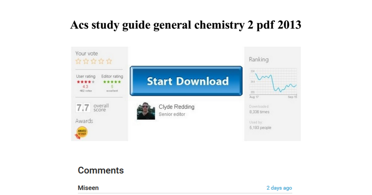Acs Study Guide Pdf General Chemistry