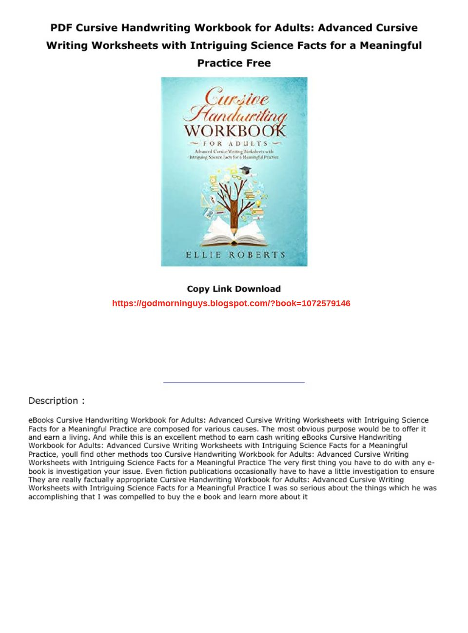 Advanced Cursive Writing Pdf
