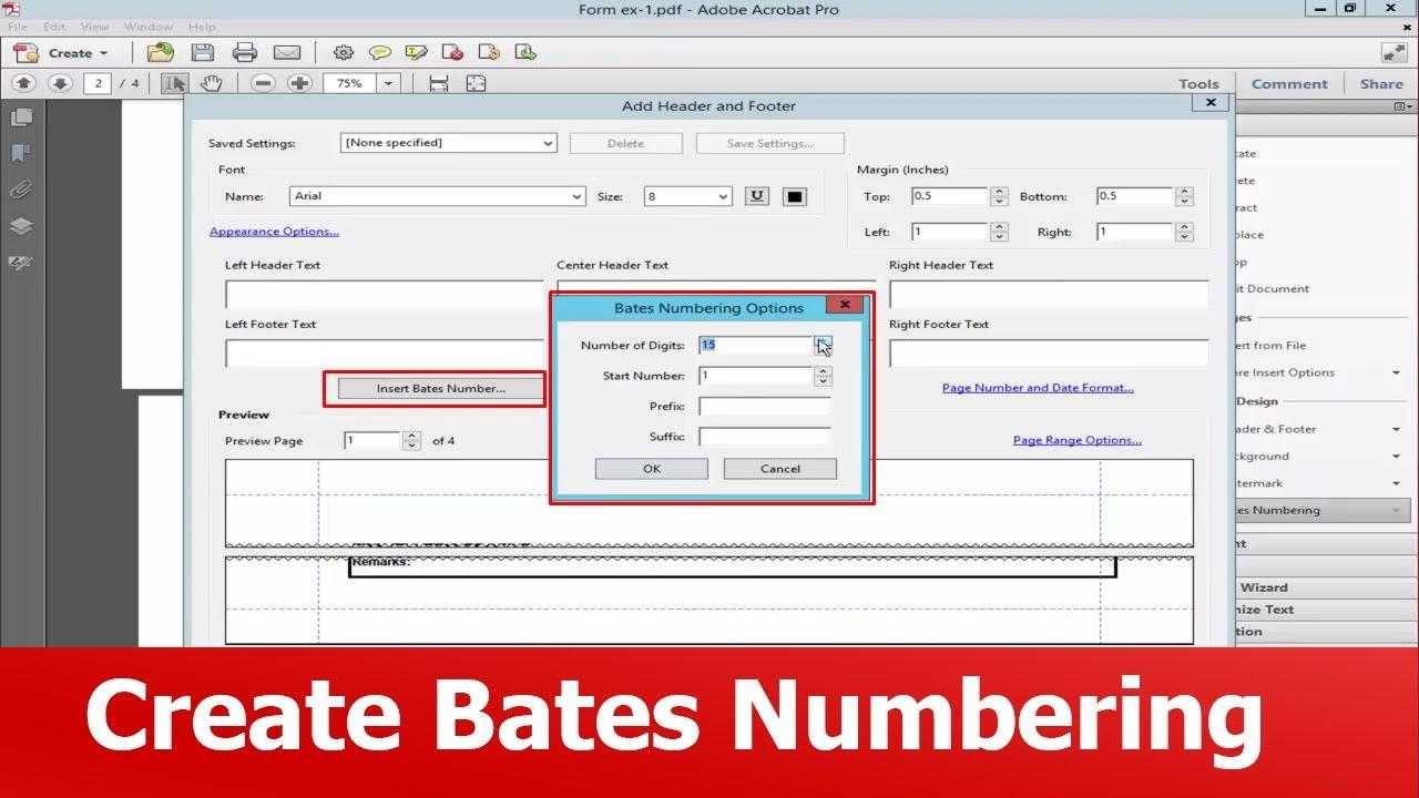 Bates Numbering Pdf
