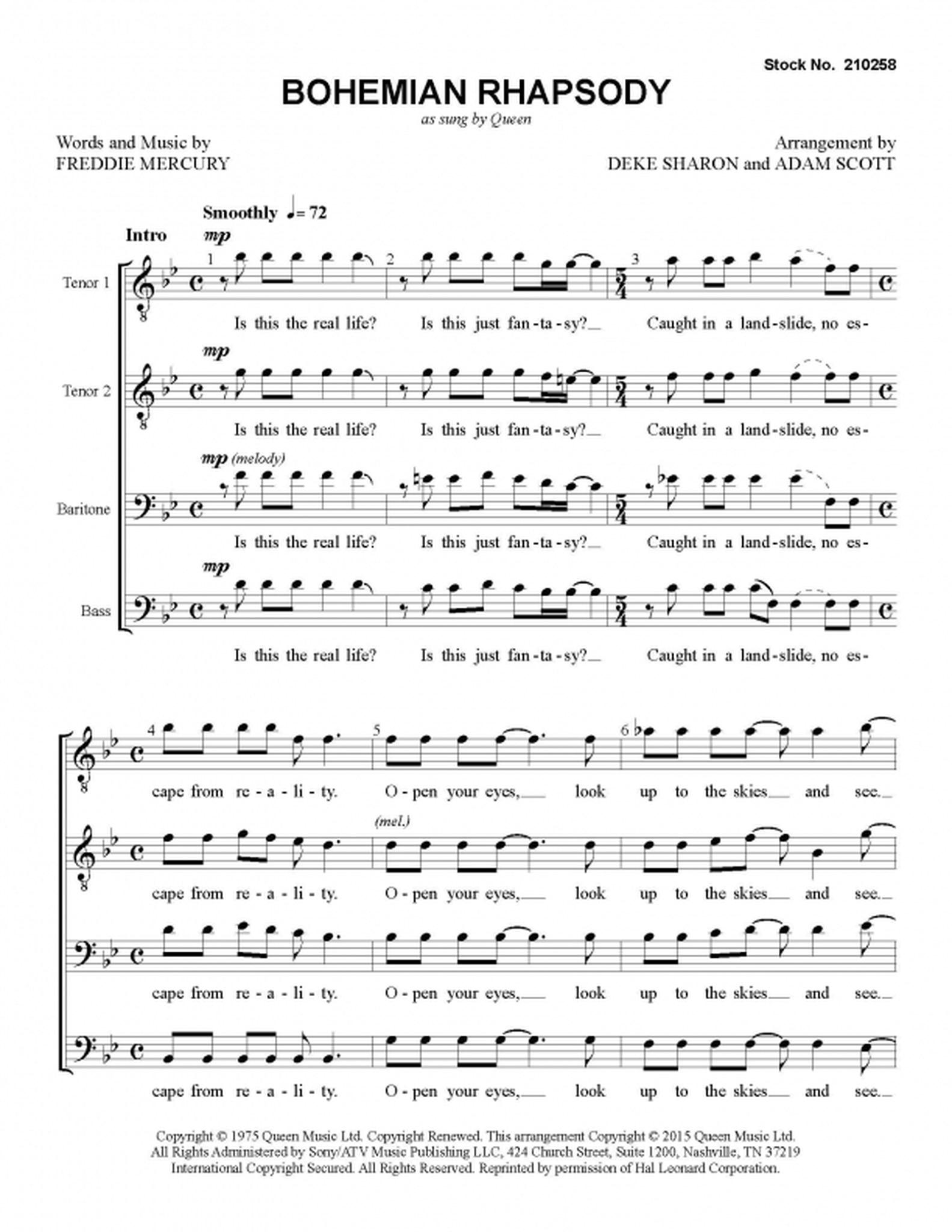Bohemian Rhapsody Piano Notes Pdf