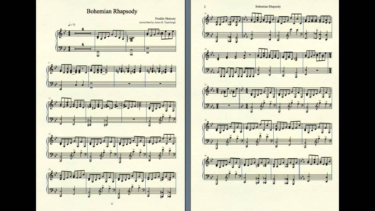 Bohemian Rhapsody Piano Pdf
