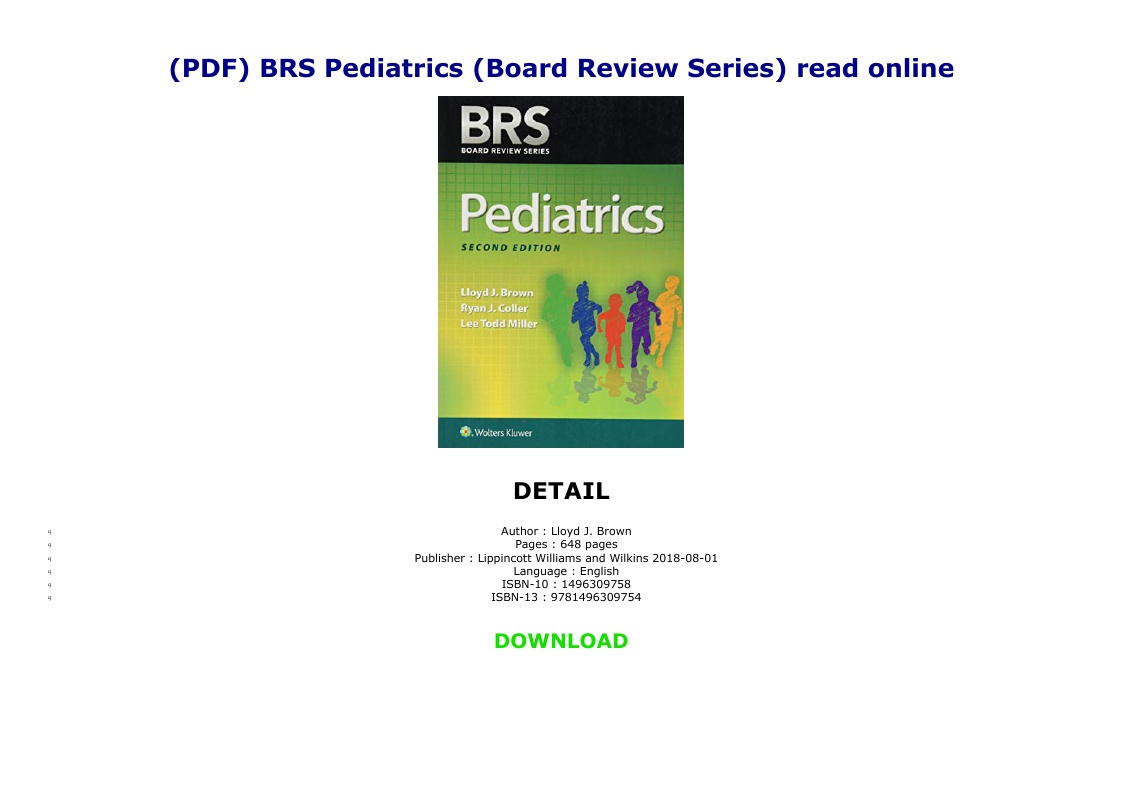 Brs Pediatrics Pdf Online