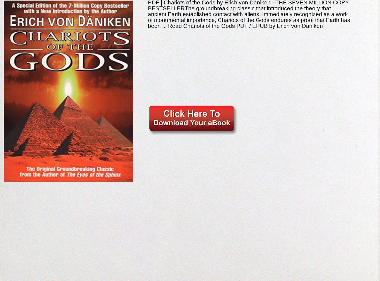 Chariots Of The Gods Pdf