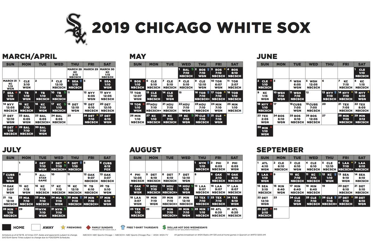 Chicago Cubs Schedule 2019 Pdf