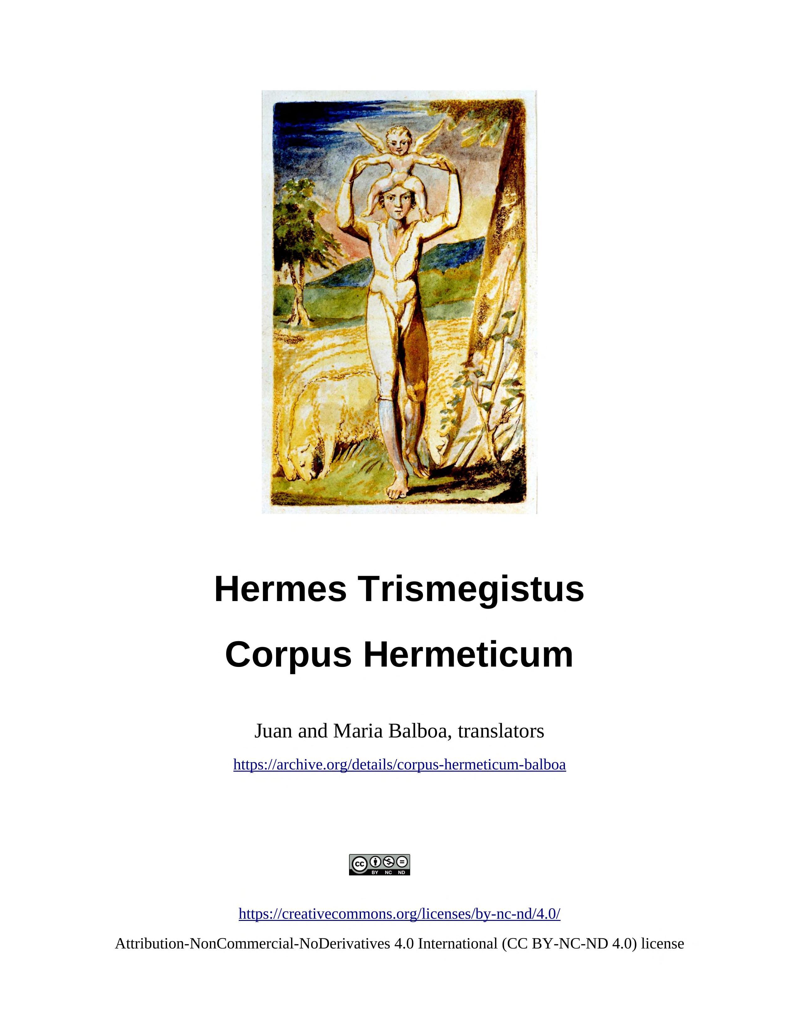 Corpus Hermeticum Pdf English