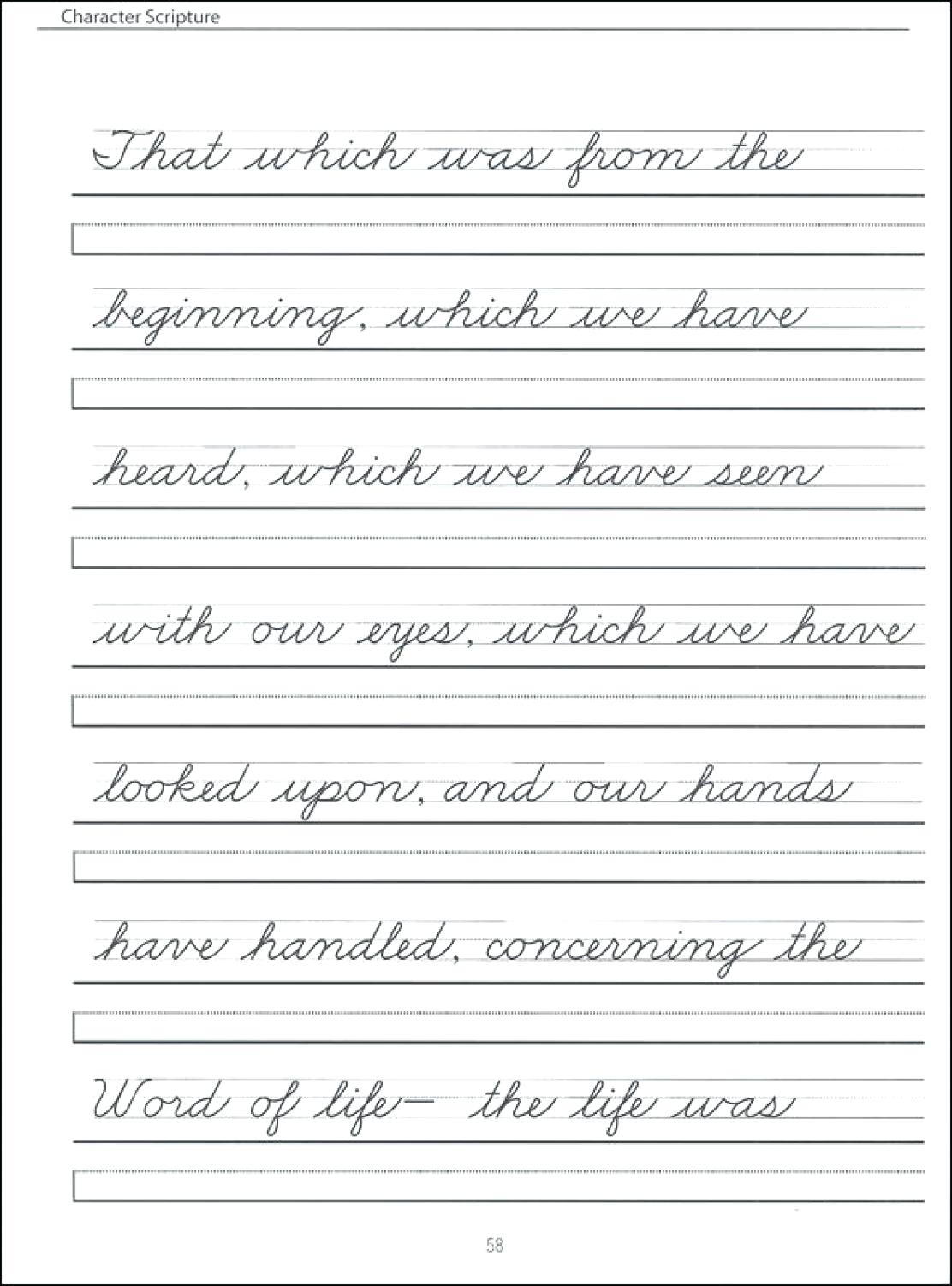 Cursive Writing Pdf For Adults