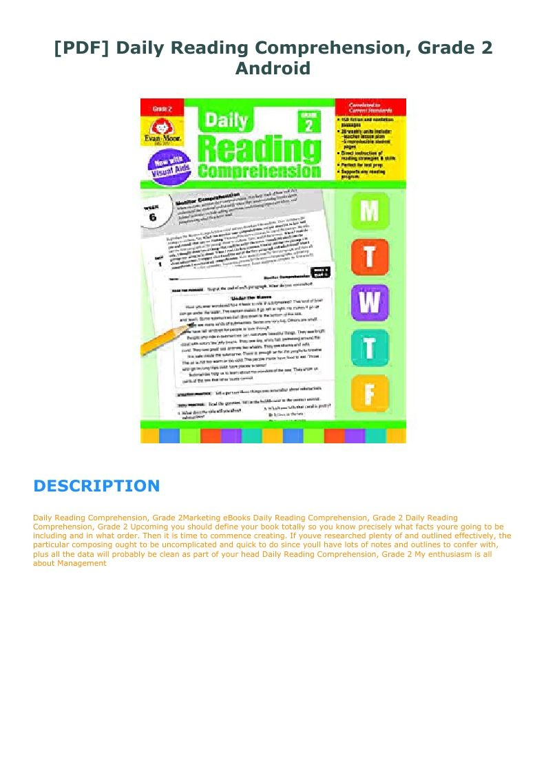 Daily Reading Comprehension Grade 2 Pdf Free