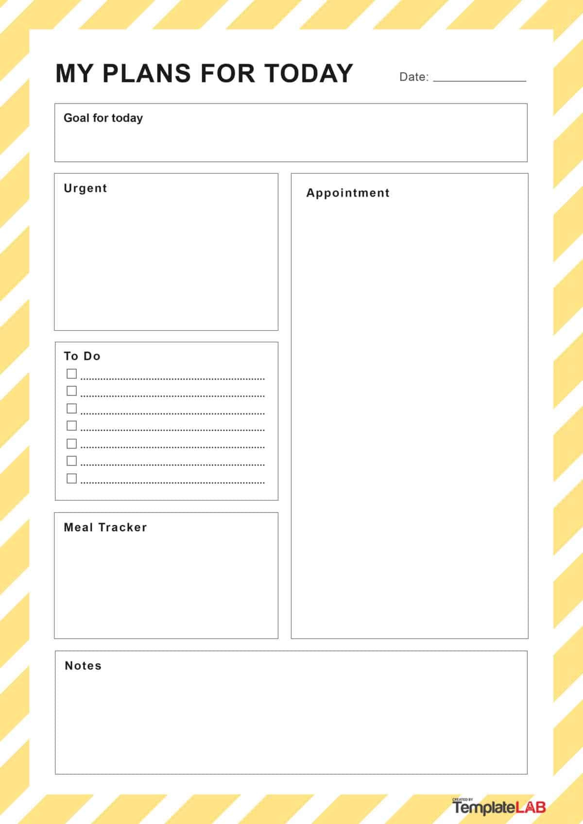 Daily Schedule Template Pdf Free