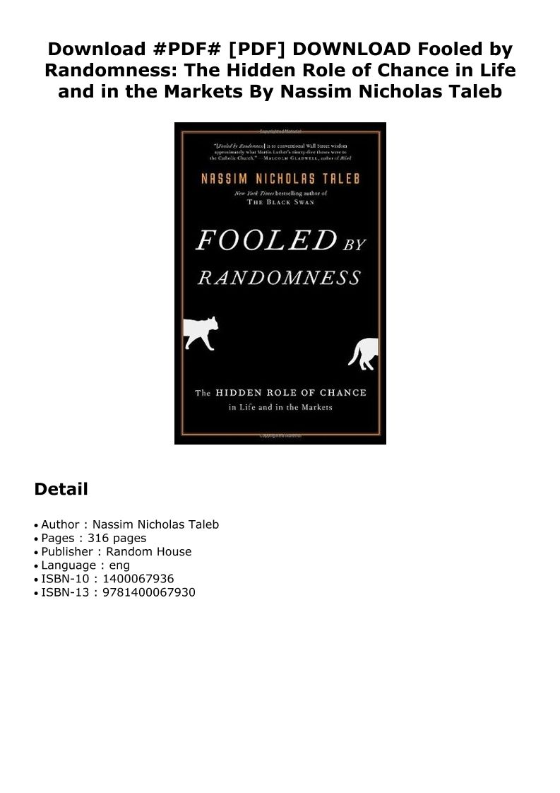 Fooled By Randomness Pdf